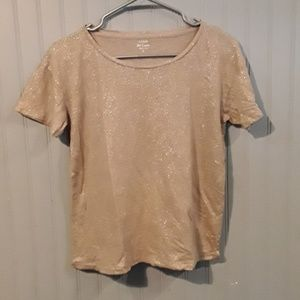 🤑 J Crew Metallic Gold Sparkly Tee Shirt